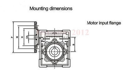NMRV030 Worm Gear Reducer Ratio 15:1 56B14 Speed Reducer for 180W Electric Motor 6