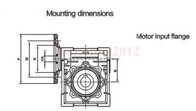 Gearbox NMRV30 Turbo-Worm Gear Reducer Ratio 1:5 Square Flange for NEMA23 9