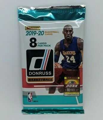 2019-20 PANINI DONRUSS NBA Basketball (1) NEW RETAIL PACK 8 CARDS MORANT? ZION? 2