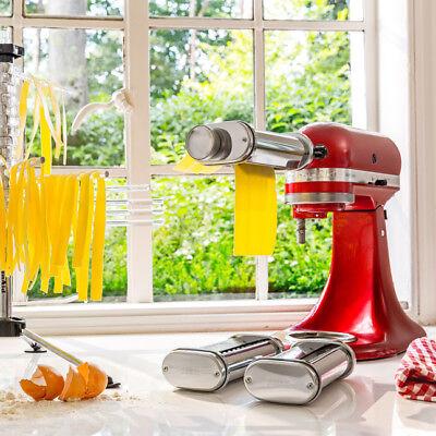 KitchenAid  5KSMPRA Dreiteiliger Nudelvorsatz  mit Reinigungsbürste 6