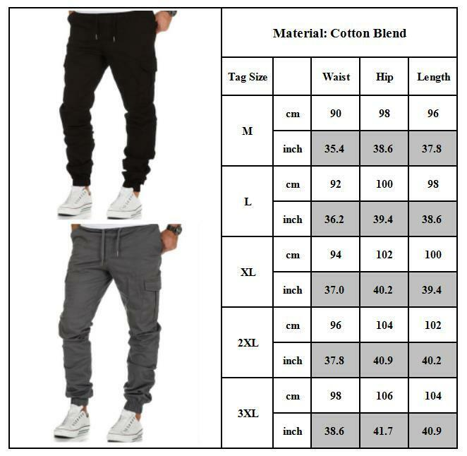 Mens Combat Cargo Trousers Work Tactical Military Army Camo Chino Long Pants AU 3