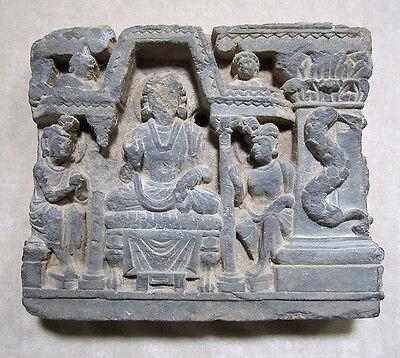 ANCIENT GANDHARAN SCHIST STONE SCULPTURE OF THE BUDDHA, circa 200 AD 2