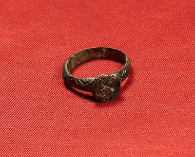 Rare Medieval Knigth's Seal Ring, Finger Ring, 11. Century, Stag Stamp