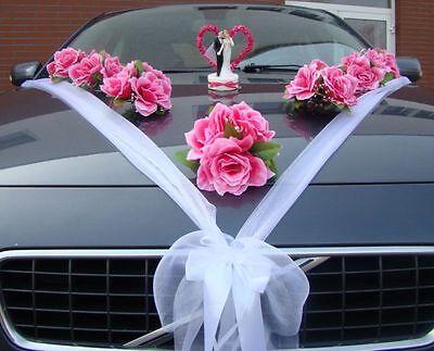 Varianten Auto Schmuck Braut Paar Rose Deko Dekoration Hochzeit