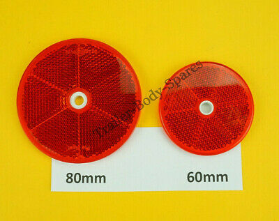 8 x 60mm Red Hi-Intensity Reflectors for gatepost caravans trailers horseboxes 4