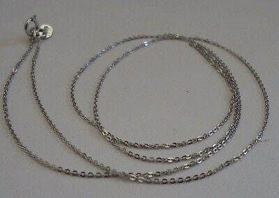 ae80cdf088865 14K SOLID WHITE Gold Chain / Elegant And Srong Solid / 18'' Long/ Solid &  Strong