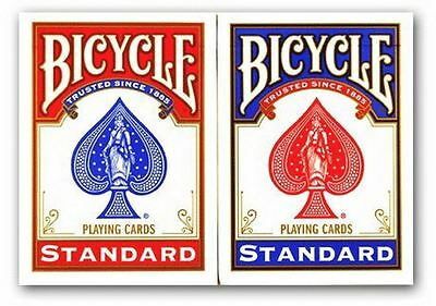 2 x Bicycle Playing Cards Decks 1 Red & 1 Blue Casino Poker Snap Family Games 2
