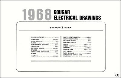 1968 MERCURY COUGAR and XR7 Wiring Diagram 68 Original Electrical Schematic  XR 7 - $39.00 | PicClickPicClick