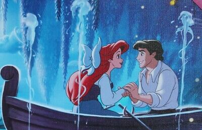 Disney Little Mermaid Ariel And Eric Canvas Wall Art Size 11 X 8 Inches New 21 50 Picclick