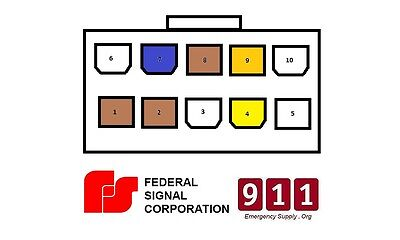 federal signal pa300 wiring diagram federal signal pa300 10 pin wiring cable kit rear accessory  federal signal pa300 10 pin wiring