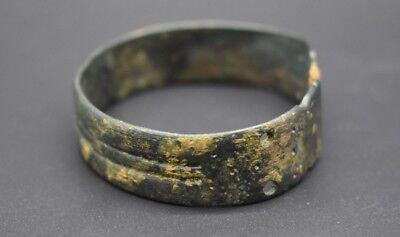 Ancient Bactrian bronze decorated bracelet C. 500 BC 7