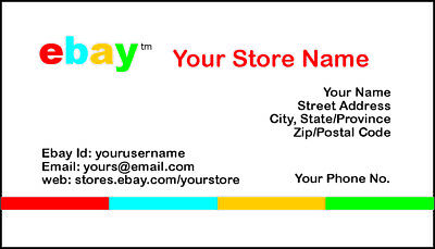 500 EBAY SELLER Personalized Business Cards-FREE SHIPPING-Glossy or Matte 5