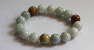 Gemstone Genuine Natural Jade (Grade A) Multi-Color Jadeite Beads Bracelet 13mm 6