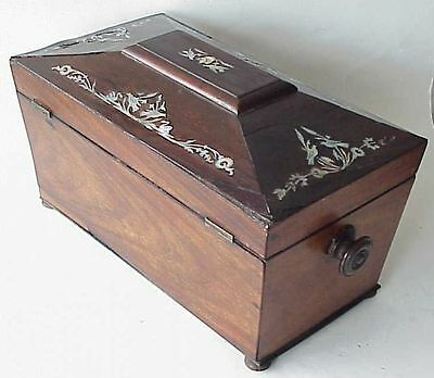 BEAUTIFUL Antque Oriental Tea Caddy w Abalone Inlay 4