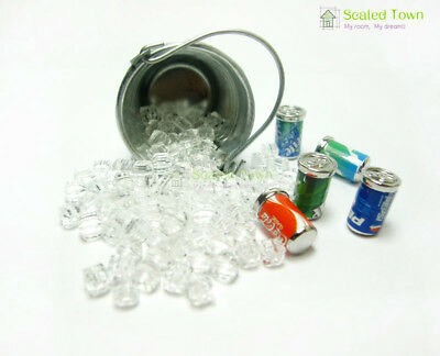 5 Dollhouse Miniature Soda Pop Cans Kitchen Food Drink Beverage Cola Pepsi 1/12 5