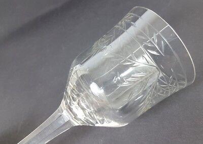 Glas Römer Weinglas, handgraviert, handgeschliffen, um 1920 AL238 11
