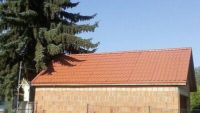 0.5 Verz.+beschichtet Cm-genaue Längen Fürs Dach Blechdachpfannen Stahlbech 1.wahl-qual