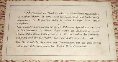 Schöne alte Fotografie: Schorndorfer Marktplatz mit Dr. Palm'sche Apotheke