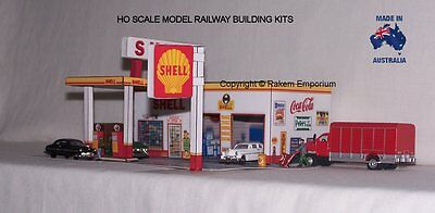 HO Scale Shell Garage Petrol Station Model Railway Building Kit - SPS1