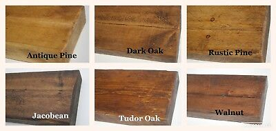 "6"" x 2"" Rustic Pine Distressed Floating Shelf Shelves Handmade Solid Wood wooden 3"