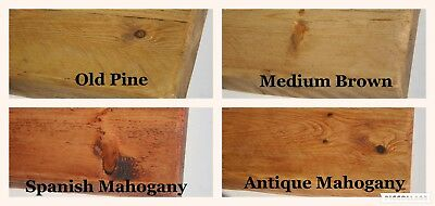 "6"" x 2"" Rustic Pine Distressed Floating Shelf Shelves Handmade Solid Wood wooden 5"