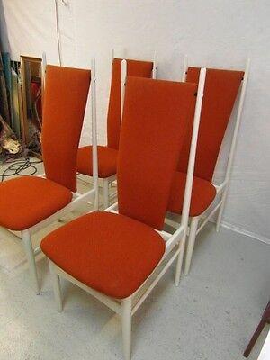 Set Er Stühle Stil Stuhl Italien Sessel Edel Design Sitzgruppe 70 Jahre 4 Orange EIDeYWH29b