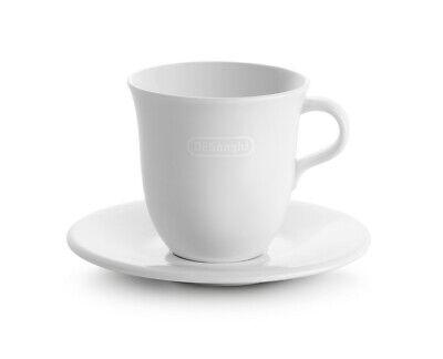 Delonghi 2x tazze cappuccino 270ml Tognana porcellana ceramica bianca + piattini 2