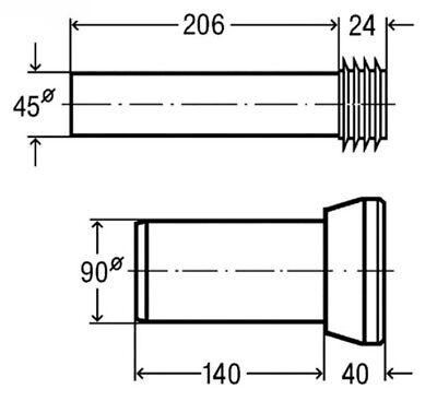 Viega Wand WC Anschlussgarnitur Ø 110 mm GIS Eco Duofix Geberit Vorwandelement