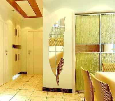NEW 3D DIY Removable Home Room Wall Mirror Sticker Art Vinyl Mural ...