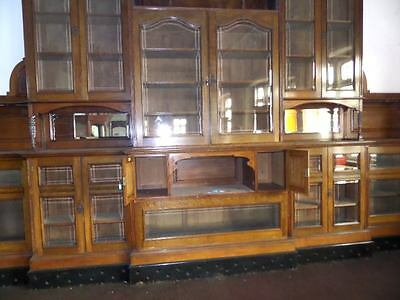 Monumental Regal Solid Oak Library Bookcase With Beautiful Carved Crest 7