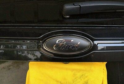 Ford Edge Liftgate Rear Emblem Matte Black  D