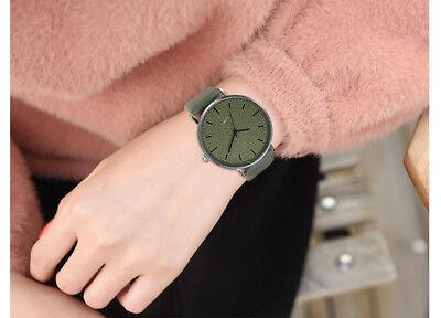 Unisex Fashion Casual Women's Watches Men Leather Bracelet Quartz Wrist Watch 10