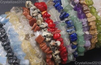 Handmade 5-8mm Mixed Natural Gemstone Chip Beads Stretchy Bracelet Healing Reiki 7