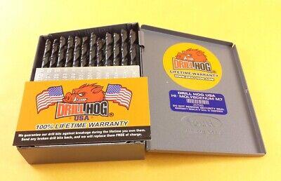 Drill Hog® 60 Pc NUMBER Drill Bit Set Wire Gauge Bits MOLY M7 Lifetime Warranty 4
