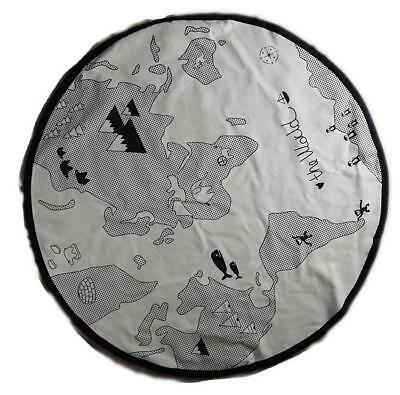 Baby Kid Soft Round World Map Play Rug Game Mat Bedroom Carpet Crawling Blanket