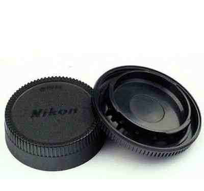 2X Body Front + Rear Lens Cap Cover For Nikon AF AF-S Lens DSLR SLR Camera HOT 3