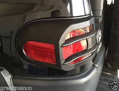 2007-14 Toyota FJ Cruiser Head & Rear Light Guard ABS Protectors Covers Black 4x