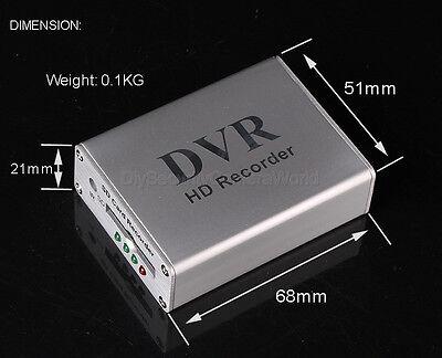 H02 Mini DVR 1CH VIDEO AUDIO Realtime SD Card Video Recorder DVR für CCTV Kamera