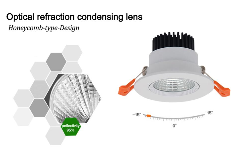 3W 5W 7W 9W 12W 15W 20W COB LED Recessed Ceiling Downlight Spot Light Bulb Kits 9