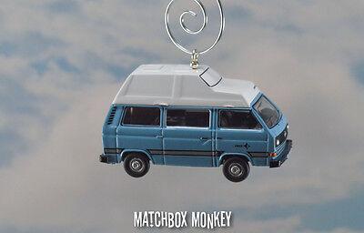 1:76 Volkswagen T25 Bus Camper Westy VW Type 2 Christmas Ornament Westfalia RV