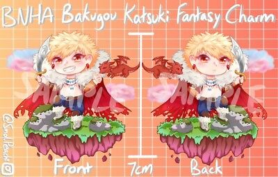 "2/"" Midoriya Adventurer Fantasy AU Hero Acadamia BNHA MHA Acrylic Keychain Anime"