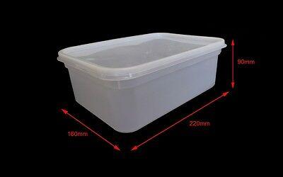 2 LITRE RECTANGULAR Ice Cream tubsFood storage containersInc