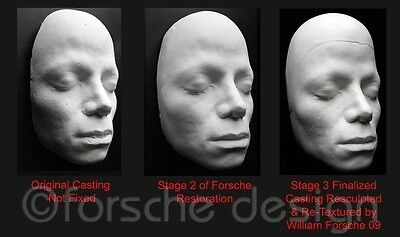 Michael Jackson Life Mask/Cast From Thriller Video, Sculptor William Forsche 6