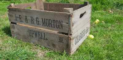 Classic English Old Vintage French Wooden Farm Apple Crate Bushel Box