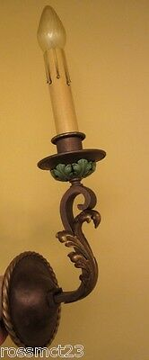 Vintage Sconces matched pair 1920s wall lights 3
