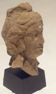 Ancient Terracotta head of Apollo or Alexander the Great 4