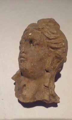Ancient Terracotta head of Apollo or Alexander the Great 9