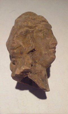 Ancient Terracotta head of Apollo or Alexander the Great 7