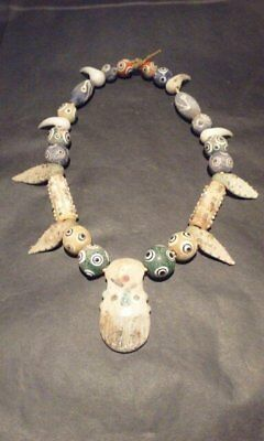 Phoenician Style Glass bead Necklace 8
