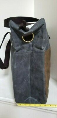CB STATION Waxed Canvas Multi Pocket Travel Tote / Bag - NEW WITHOUT TAGS 4